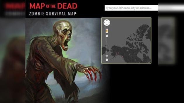 'Mapa de la Muerte': Instrucciones para sobrevivir a un apocalipsis zombi