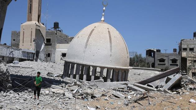 """Con un """"¡Viva Israel!"""" soldados festejan la explosión de una mezquita en Gaza"""