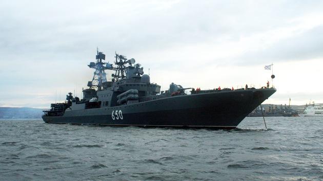Flotilla rusa parte hacia las costas de Siria
