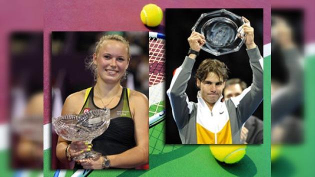 El español Nadal y la danesa Wozniacki, mejores tenistas 2010