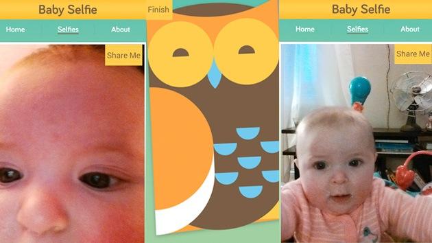 'Selfies' desde la cuna: una aplicación permite a los bebés autorretratarse