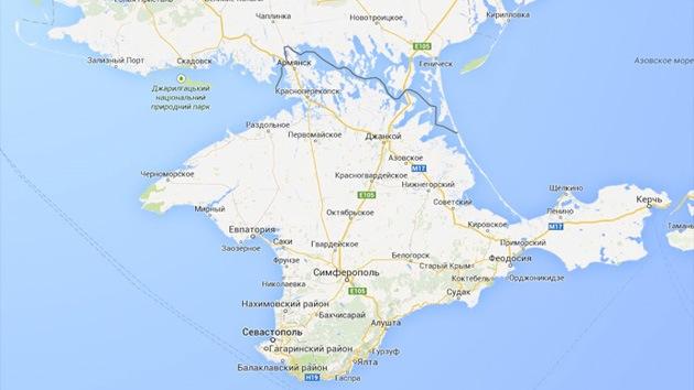 Google Maps marca Crimea como parte de Rusia solo en su versión rusa