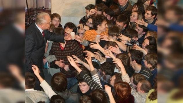 La celebración del día de los estudiantes en Rusia