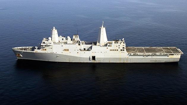El buque anfibio de EE.UU. San Antonio con 700 marines a bordo llega al Mediterráneo