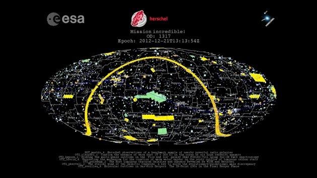 Video: Decenas de miles de observaciones del telescopio Herschel, en un minuto