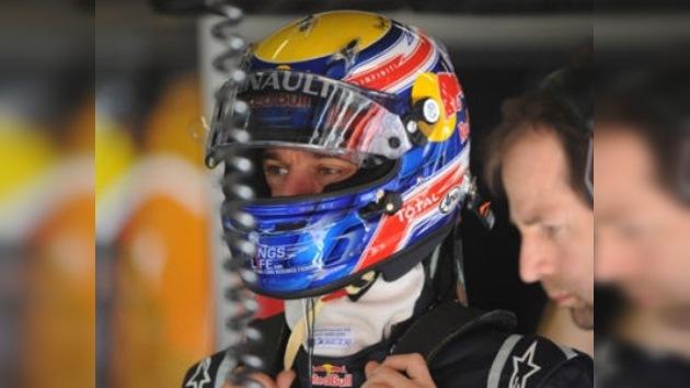 Mark Webber lidera los entrenamientos libres del Gran Premio de España de F1