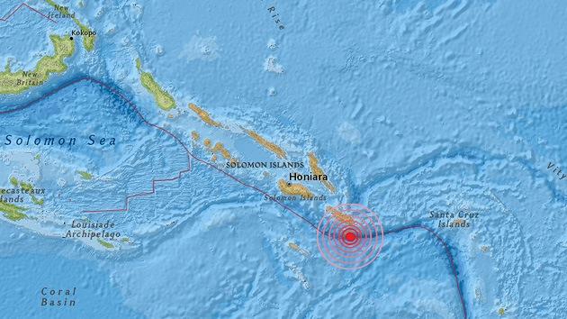 Nuevo terremoto de 7,5 sacude las Islas Salomón