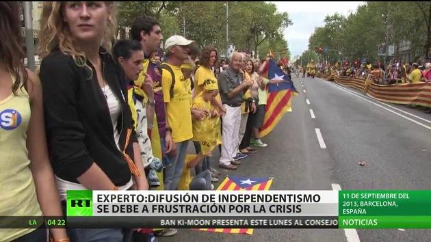 """""""La difusión del independentismo se debe a una frustración por la crisis"""" en Cataluña"""