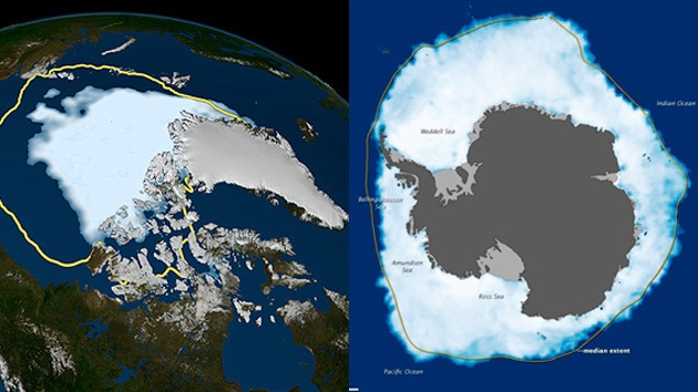 Comportamiento 'bipolar': El Ártico disminuye y la Antártida se extiende