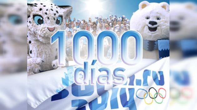 1000 días hasta el inicio de los Juegos Olímpicos de Invierno 2014 en Sochi