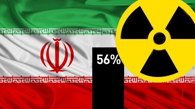 Irán amenaza a Occidente e Israel con enriquecer uranio al 56%