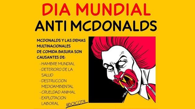El mundo celebra el Día del Boicot contra McDonald's
