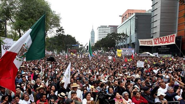 México, a punta de protestas: Cadena humana para proteger el sector del petróleo