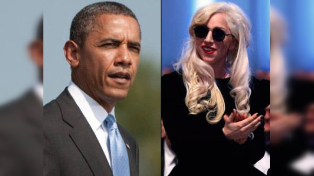 El aspecto de Lady Gaga asusta a Barack Obama