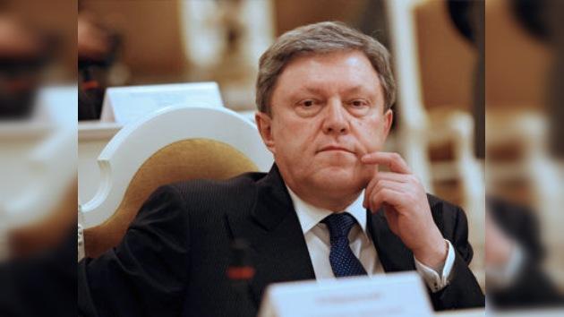 El Partido Yábloko presenta su candidatura a las presidenciales rusas