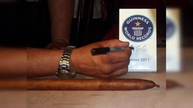 Un puro de casi 82 metros de longitud, posible nuevo Guinness cubano