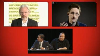 """Treffen von Snowden, Greenwald und Assange: """"Wir teilen uns denselben Strafverfolger"""""""