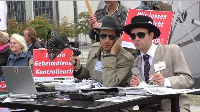 Archivbild von Anti-NSA-Protest in Berlin. Quelle: Ruptly.