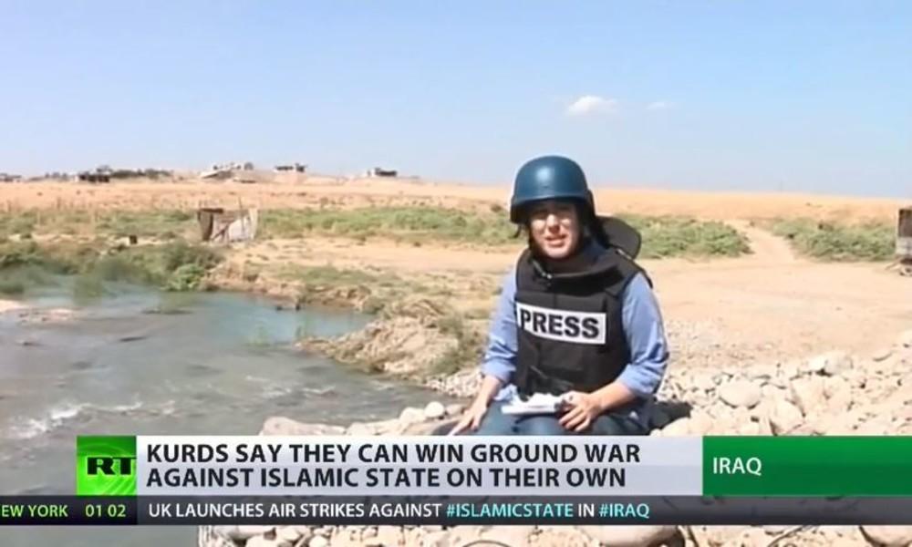 Unsere Reporterin an der Frontlinie zwischen Kurden und IS im Nordirak