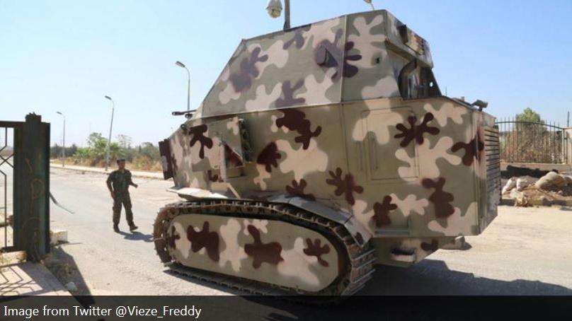 Erstaunlich und bizarr - selbstgebaute kurdische Panzer gegen IS in Syrien