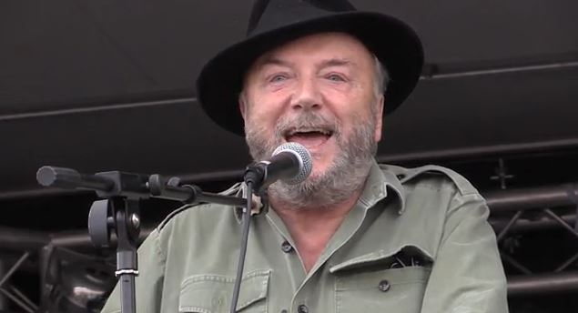 George Galloway auf einer pro-Palästina Demo in London - Quelle: Ruptly