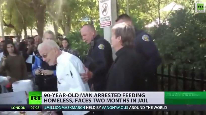 USA: 90-Jähriger wegen Obdachlosenspeisung verhaftet