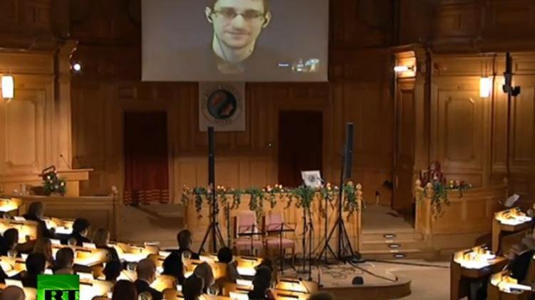 """Snowden erhält schwedischen """"Alternativen Nobelpreis"""""""