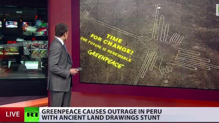 Greenpeace-Aktivisten entweihen indigenes Heiligtum in Peru