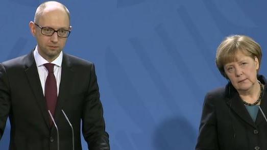 Ukrainischer Premier in Berlin - Er bedankt sich beim deutschen Steuerzahler und will mehr Geld