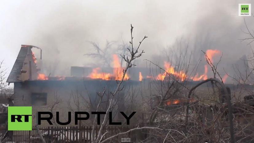 Donezk - Schneise der Verwüstung nach Dauerbeschuss durch ukrainische Armee