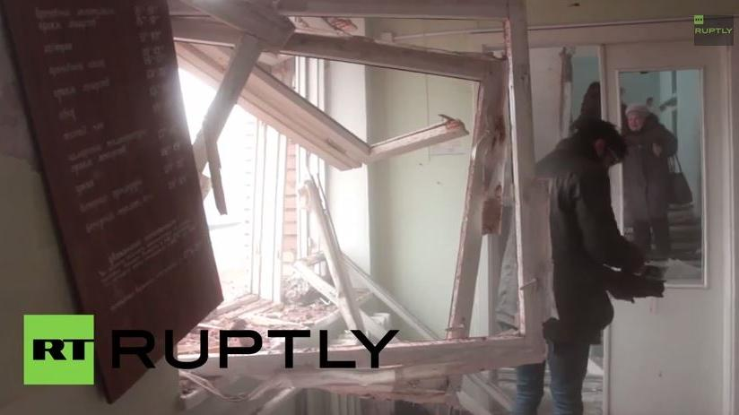 Exklusiv RT Ruptly Video: Granantenangriff verwüstet Krankenhaus in Donezk