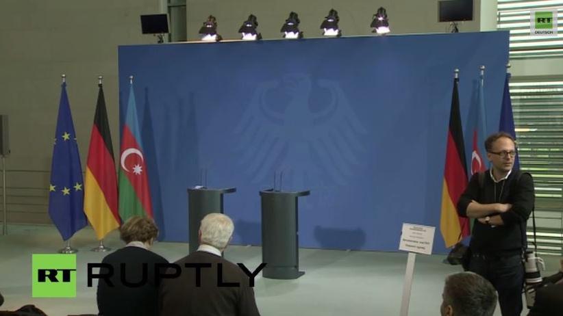 Livestream: Öl oder Menschenrechte? Merkel trifft aserbaidschanischen Präsidenten