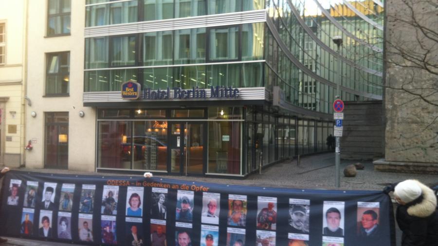 """""""Wir wissen wer die Mörder sind"""" - Demo vor ukrainischer Botschaft in Berlin wegen Odessa-Massaker"""
