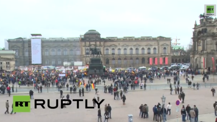 Livestream: Pegida-Demonstration in Dresden