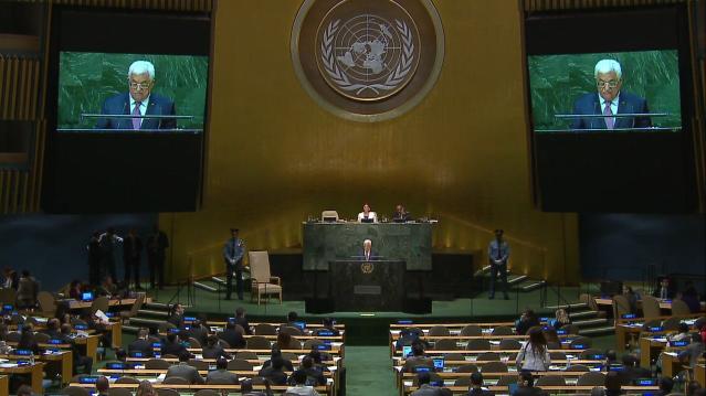 """Palästinenser Präsident: """"Wir sind nicht gescheitert, der UN-Sicherheitsrat hat uns im Stich gelassen"""""""