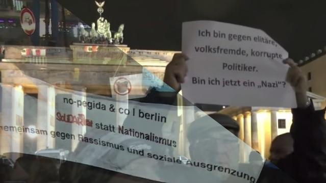 Doppel-Livestream: Bärgida und Gegendemonstration in Berlin