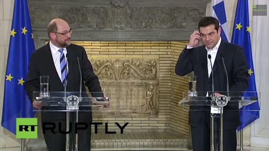 EU-Parlamentspräsident Schulz zu Unterredung mit griechischem Ministerpräsidenten Tsipras