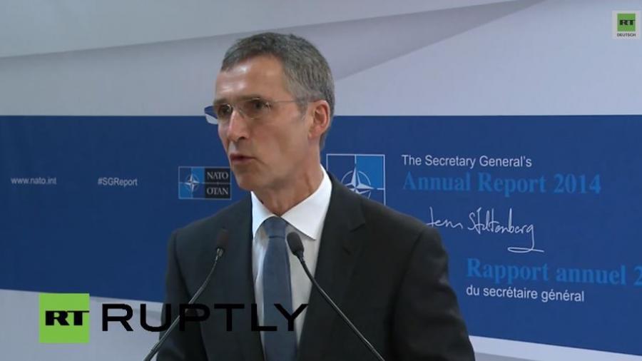 LIVE: Stoltenberg gibt NATO-Jahres-Bericht von 2014 für die Öffentlichkeit frei