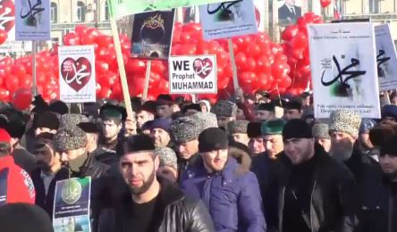 Millionenprotest in Tschetschenien gegen CharlieHebdo-Karikaturen