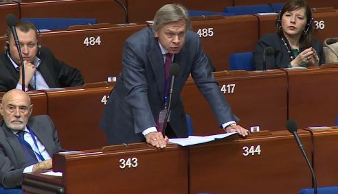 Aleksej Pushkow bei seiner Rede im Europäischen Parlament - Quelle: Ruptly