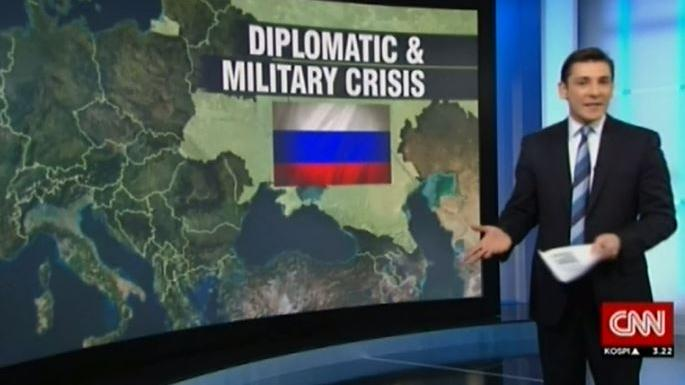 Hat CNN Geheiminformationen?  US-Sender zeigt aktuelle Karte mit Ukraine als Teil von Russland