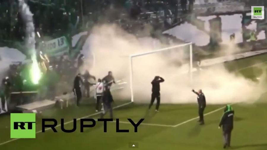 Athen: Schwere Krawalle bei Fußballspiel