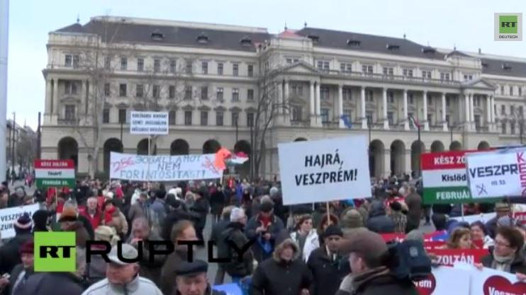 Anti-Regierungs-Proteste in Budapest