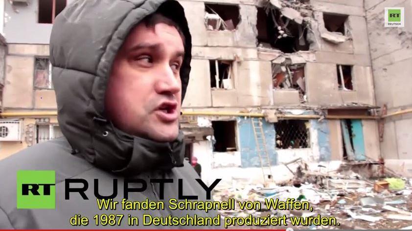 Wohnhäuser in Donezk mit Granaten aus deutscher Produktion beschossen