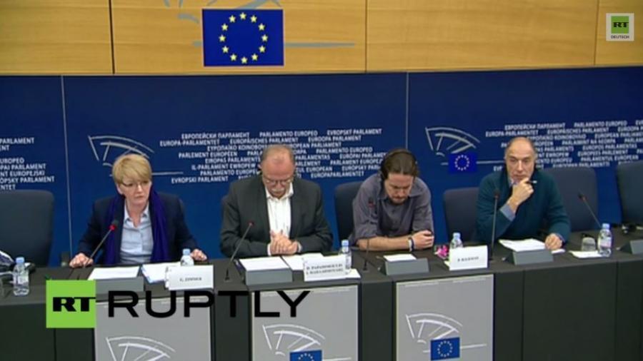 Live: Pressekonferenz von Syriza, LINKE und Podemos in Straßburg