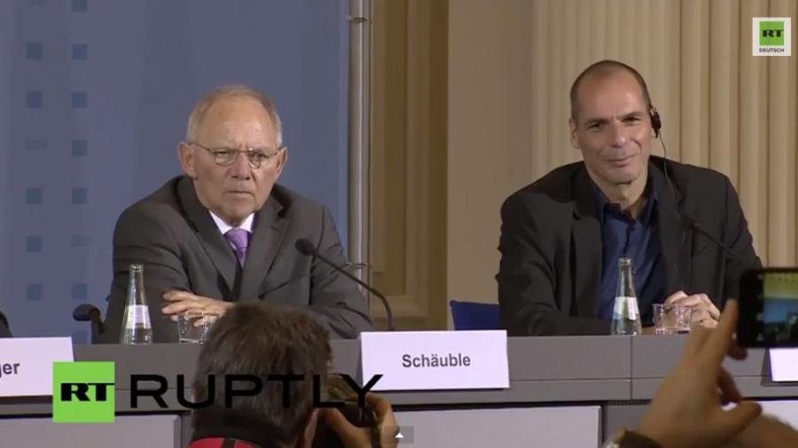 Griechischer Finanzminister Varoufakis trifft Schäuble in Berlin