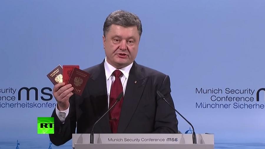 """Moskau verlangt Kopien der """"russischen Pässe"""", die Poroschenko in München als Beweise präsentierte - Die Ukraine schweigt"""