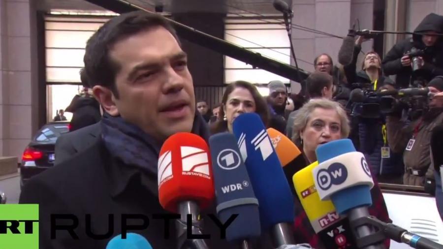Tsipras in Brüssel: Stopp der Austeritätspolitik und Lösung der humanitären Krise in Europa