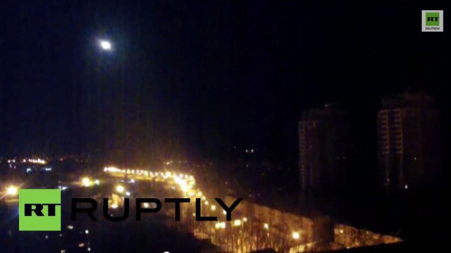 Donezk: Fliegt hier etwa ein UFO?