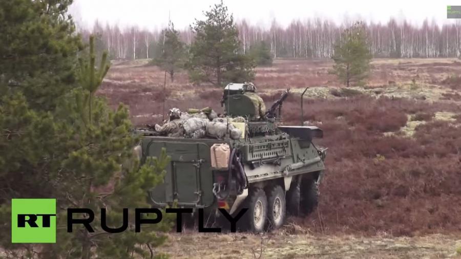 """Lettland: Gemeinsames Militärmanöver """"Winter"""" von US-, kanadischen und lettischen Soldaten"""